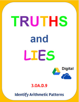 Digital Truths and Lies - Identify Arithmetic Patterns (3.OA.D.9)