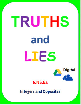 Digital Truths and Lies - Integers and Opposites (6.NS.6a)