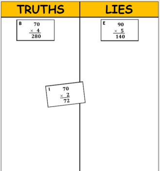 Digital Truths and Lies - Multiply Single Digits by Multiples of Ten (3NBT3)