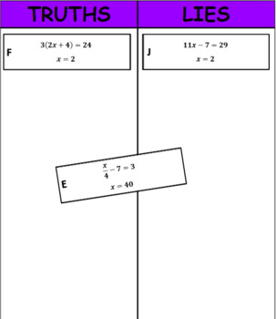 Digital Truths and Lies - Solving Algebraic Equations (7.EE.4)