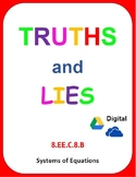Digital Truths and Lies - Solving Systems of Equations (8.EE.C.8.B)