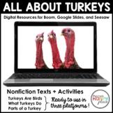 Digital Turkeys Activities - Boom, Seesaw, & Google Slides