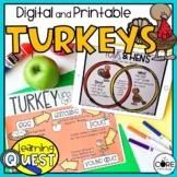 Digital Turkeys Science Activities for November   Distance