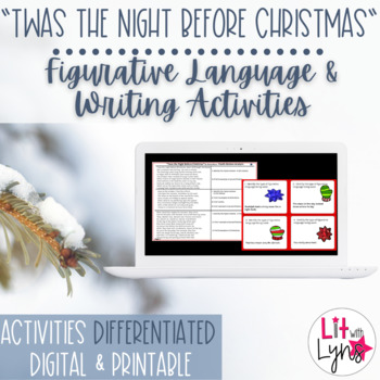 DIGITAL 'TWAS THE NIGHT BEFORE CHRISTMAS FIGURATIVE LANGUAGE/WRITING ACTIVITIES