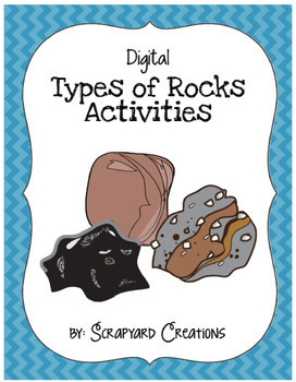 Digital Types of Rocks Activities