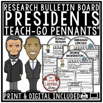 Digital Resource U.S. Presidents Research Paperless Activities Google Classroom™