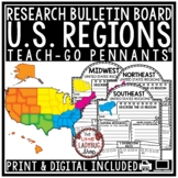Digital U.S. Regions of the United States Research for Google Slide Templates