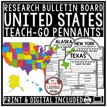 50 US States Report -United States Research Activity Geography Google Classroom