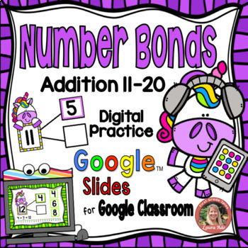 Digital Unicorn Number Bonds 11 20 Google Slides By Laura Ado