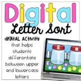 Digital Uppercase/Lowercase Letter Sort
