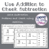 Digital Use Addition to Check Subtraction