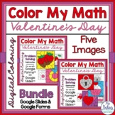 Digital Valentine Coloring Math Activities Google Forms &