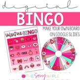 Digital Valentine Make Your Own Bingo Board in Google Slides