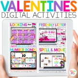 Digital Valentine's Day Activities for Math & Reading & Writing
