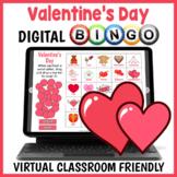 DIGITAL Valentine's Day Vocabulary BINGO Game