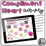 Digital Valentine's Day Compliment Heart Activity