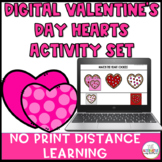 Digital Valentine's Day Hearts  Activity Set: No Print Dis