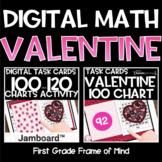 Digital Valentine's Day Math Hundred Charts