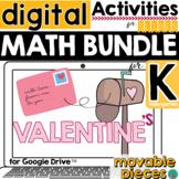 Valentine's Day Math Kindergarten for Google Slides DISTAN
