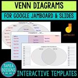 Digital Venn Diagram templates  - Google Slides & Jamboard  - Distance learning