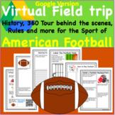 Digital Version American Football Virtual Field Trip PE Lesson