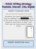Digital Version Google Classroom - RACE WRITING Strategy Template