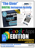 Digital: The Giver Instagram Character Trait Activity - CC