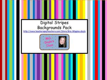 Vertical Stripes Backgrounds-Complete Set