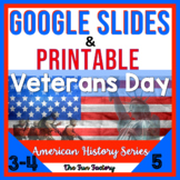 Digital Veterans Day Activities for Google Slides™ AND Printable