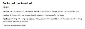 Digital Video Project - Be Part of the Solution with Rubric!