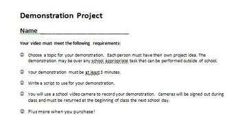 Digital Video Project - Demonstration Project
