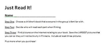 Digital Video Project - Just Read It with Rubric!