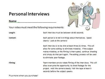 Digital Video Project - Personal Interview with Rubric!