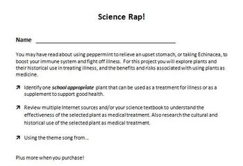 Digital Video Project - Science Rap with Rubric!