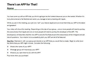 Digital Video Project - There's an APP for That with Rubric!