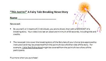 Digital Video Project - This Just In!  A Fairy Tale Breaking News Story