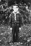 Digital Vintage Image young boy Cub Scout