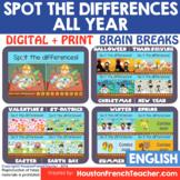 Digital Virtual Brain Breaks | Fun Friday | SPOT DIFFERENC