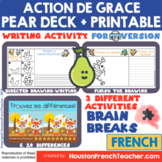 Digital Virtual French Thanksgiving Activities-Action de G