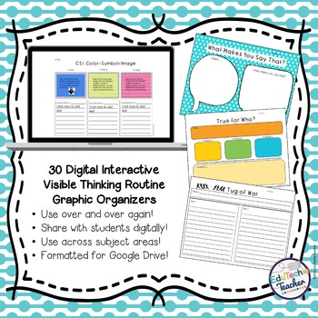 Digital Visible Thinking Routine Graphic Organizers {Google}