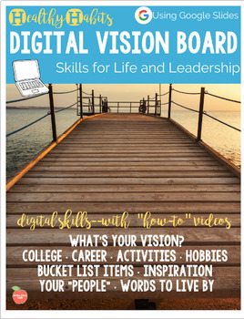 Goal Setting with Digital Vision Boards Using Google Slides or Power Point
