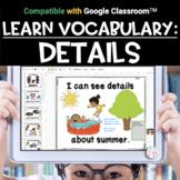 Digital Vocabulary Activities | DETAILS
