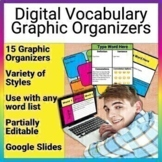 Digital Vocabulary Graphic Organizers Google Slides File f