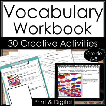 Digital Vocabulary Interactive Notebook {Google Drive & On
