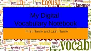 Digital Vocabulary Notebooks