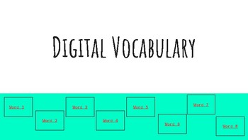 Digital Vocabulary Template with Google Slides