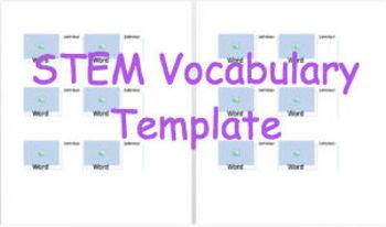 Digital Vocabulary Template MS Word