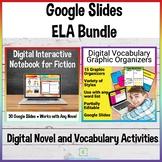 Digital Vocabulary and Novel Activities Bundle for Distanc