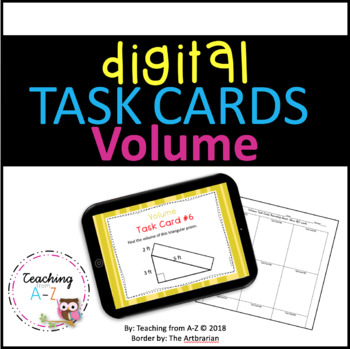 Digital Volume Task Cards for use w Google Slides or PowerPoint