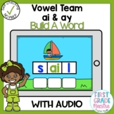 Boom Cards Vowel Team AI and AY Build A Word